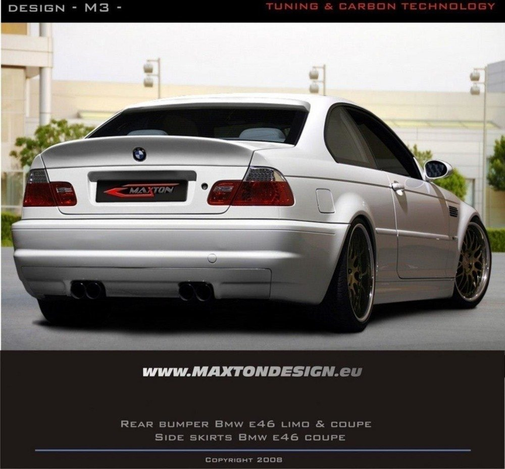 Zderzak Tylny BMW 3 E46 Coupe & Cabrio < M3 Look > Version Fitting To M3 Exhaust